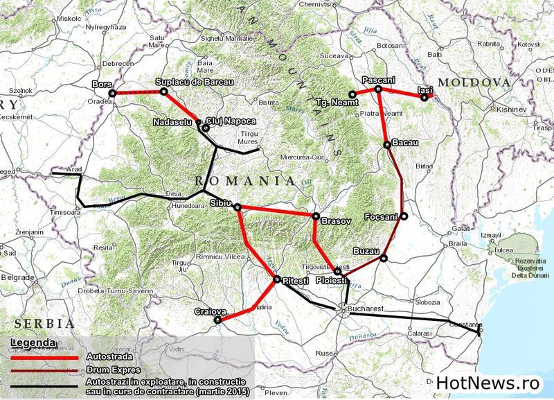 Moldova Vrea Autostrada Harta Autostrazi Drumuri Expres